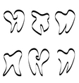 Set of tooth logo vector