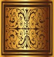 Golden floral luxury ornamental pattern background vector