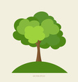 Paper green tree vector
