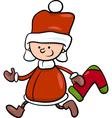 Santa claus boy cartoon vector