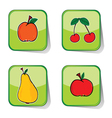 Fruit sticker color vector