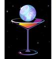 World in glass of martini vector