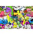 Graffiti wall art background vector