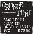 Grunge alphabet letters and numbers vector
