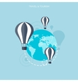 Balloon icon world travel concept background vector