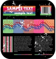 Psychedelic background and barcode vector