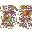 Seamless pattern with fruits for autumn hand drawn vector