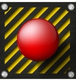 Red alarm shiny button vector