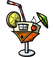 Cocktail house vector