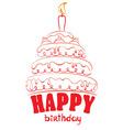 Cake - happy birthday vector