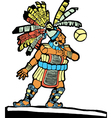 Mayan ballplayer vector