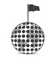 Golf planet with flag vector