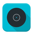 Music vinyl flat app icon with long shadow vector