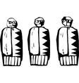 Three dolls vector