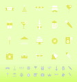 Party time color icons on green background vector