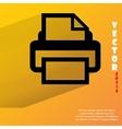 Printer flat modern web button with long shadow vector