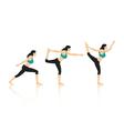 Yoga poses vector