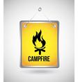 Campfire design vector