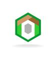 Real estate construction business logo template vector