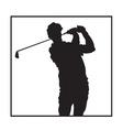 Man playing golf design vector