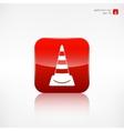Warning road cones icon vector