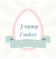 Easter egg from paper with ribbon vector
