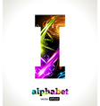 Design abstract letter i vector