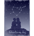 Couple in love under the stars vector