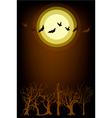 Dark forest in full moon night background vector