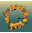 Halloween wreath 5 vector