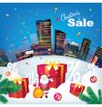 Christmas city sale vector