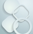 3d white paper background vector
