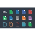 Set of video file formats icons vector