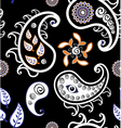 Retro paisley texture vector