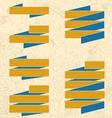 Grunge ribbons vector