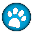 Paw button vector