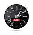 Retro black abstract alarm clock isolated on white vector