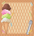 Ice cream party invitation vector