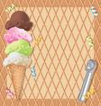 Ice cream party invitation vector