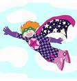Cheerful super hero vector