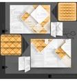 Business brochure template design vector