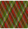 Rhombic tartan red and green seamless texture vector