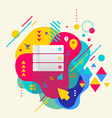 Database on abstract colorful spotted background vector