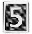 Polka dot font number 5 vector