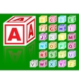 Cubes alphabet vector