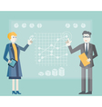 Modern management and business process vector