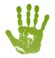 Old man green hand print vector