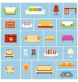 Set of furniture icons vector