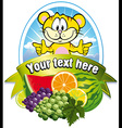 Tropical fruit label vector