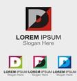 Letter d logo design sample icon vector